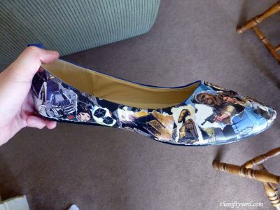 DIY Star Wars comic book shoe