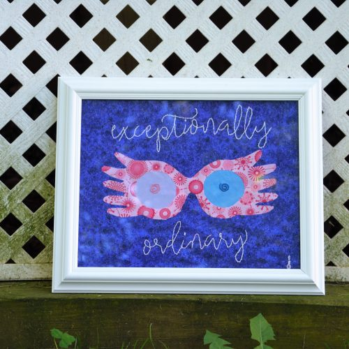 Exceptionally Ordinary Luna Lovegood-inspired Harry Potter wall decor