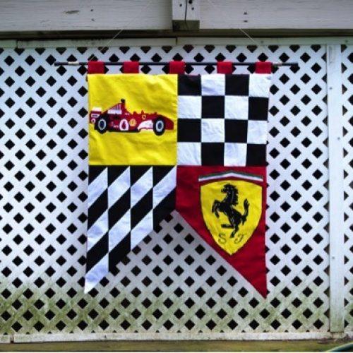 Custom Ferrari wall banner