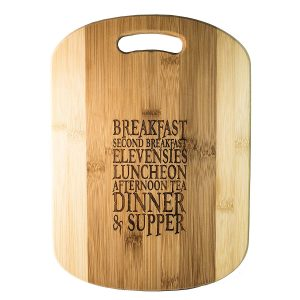 Hobbit meals bamboo wood cutting board