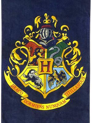 Harry Potter Hogwart's Crest beach towel