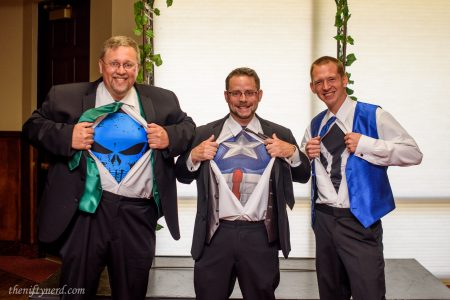 Wedding superhero shirts