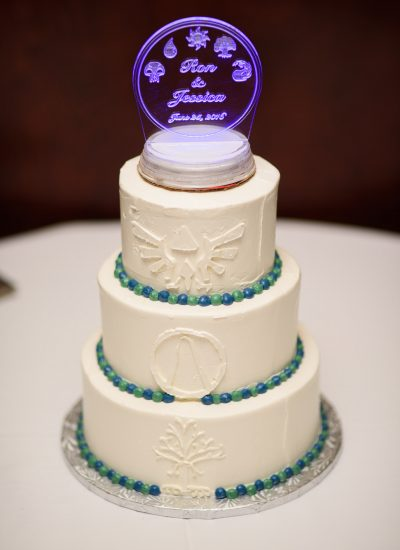 Geeky wedding cake