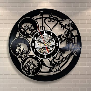 Kingdom of Hearts record wall clock