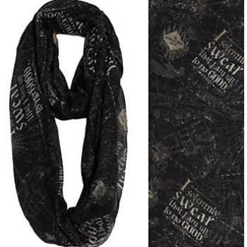 Harry Potter Maurader's Map infinity scarf