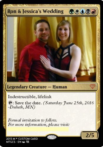 Magic the Gathering wedding invitation