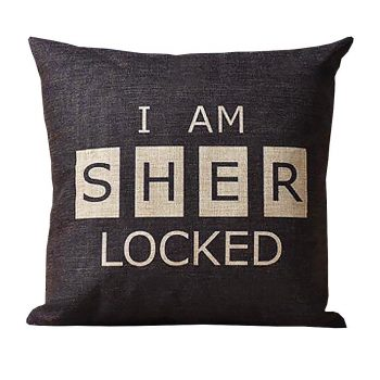 I am Sherlocked throw pillow pillowcase