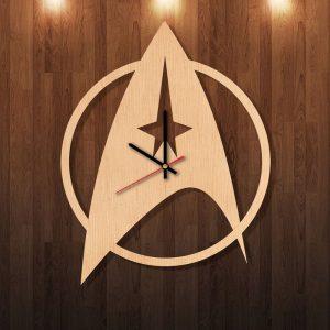 Star Trek insignia wood wall clock