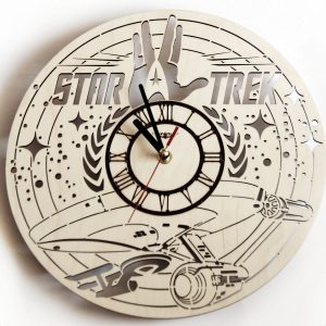 Star Trek wood clock