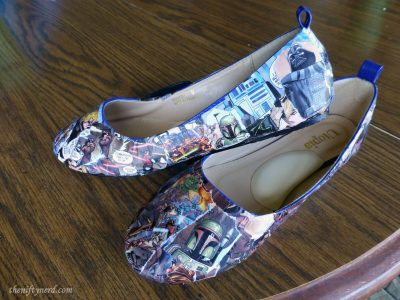 Star Wars comic book shoes craft