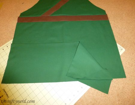 apron pocket before sewing
