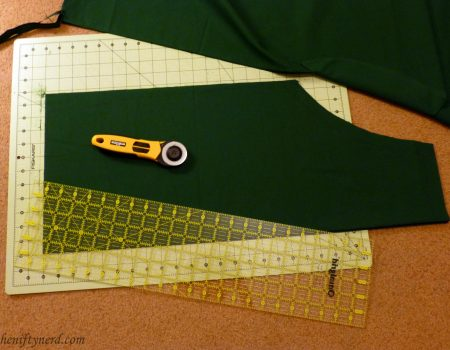 cutting out the apron