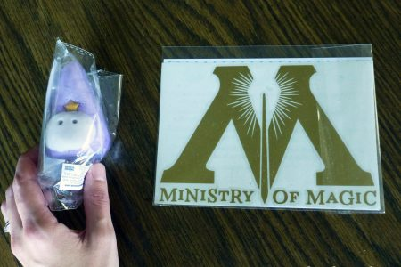 Ministry of Magic decal and wizard bath bomb