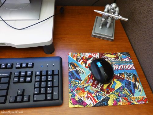 homemade comic book mouse pad