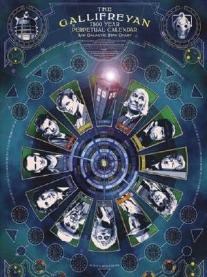 Gallifreyan perpetual calendar poster