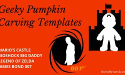 Video Game Pumpkin Carving Templates