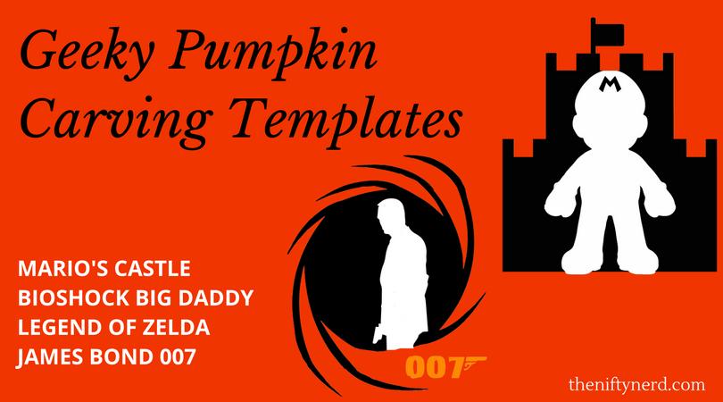 Video Game Pumpkin Carving Templates Printable Pdf Patterns