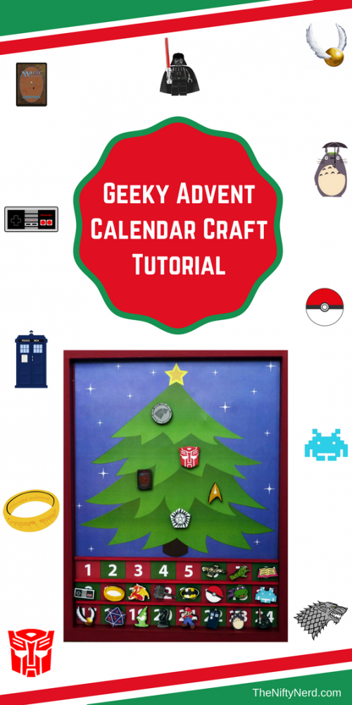 geeky advent calendar craft tutorial