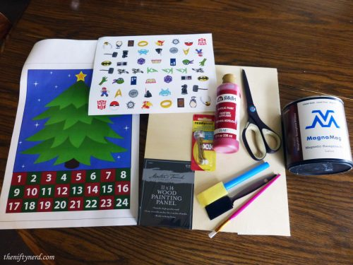 geeky advent calendar supplies