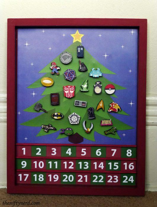 fictional fandom advent calendar for Christmas