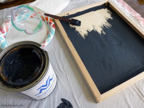 painting magnetic paint