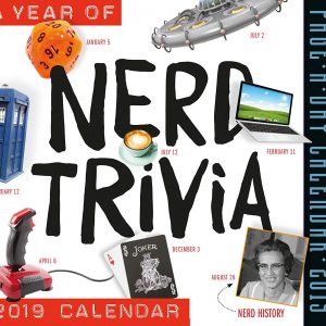 2019 Nerd Trivia daily calendar