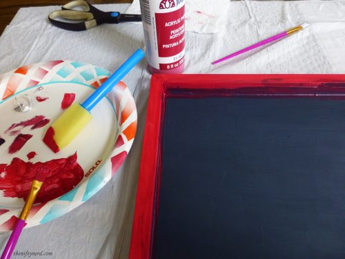 painting red paint