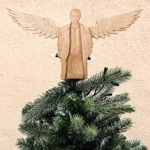 Supernatural Castiel wood tree topper