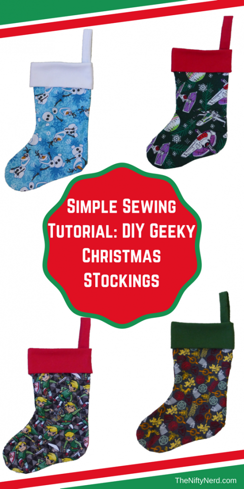 simple sewing tutorial for diy geeky christmas stocking