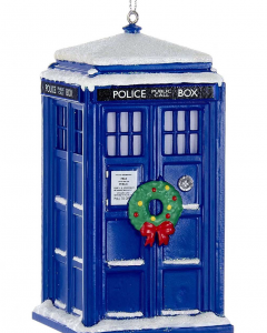 Christmas TARDIS tree ornament