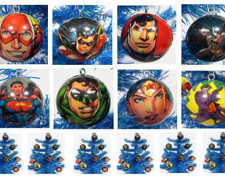 DC Justice League ornamet set