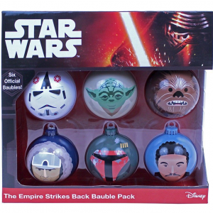 Star Wars The Empire Strikes Back bauble ornament set