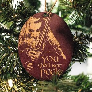 Gandalf 'You Shall Not Peek' tree ornament