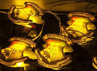 Hogwarts crest string lights