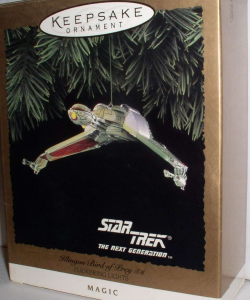 Star Trek TNG Klingon Bird of Prey ornament