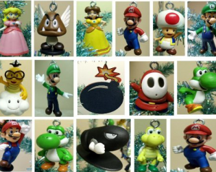Mario and friends Nintendo ornaments
