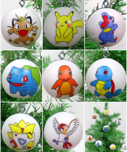 Pokemon ornament set