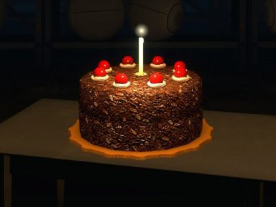 Portal chocolate cherry cake