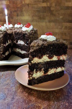 Black Forest chocolate cherry cake