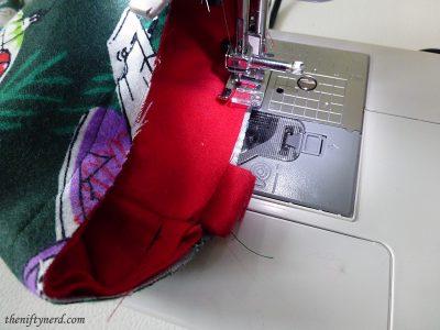 sewing the stocker hanger
