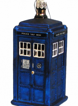 TARDIS glass ornament