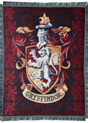 Harry Potter Gryffindor woven throw blanket