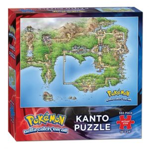Pokemon Kanto map puzzle