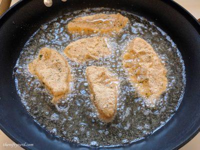 Frying halibut