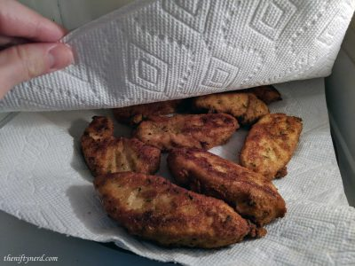 Fried halibut filets