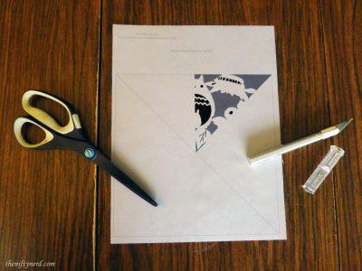 totoro snowflake paper pattern