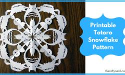 Totoro Paper Snowflake