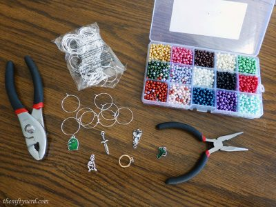 diy geeky wine glass charm supplies