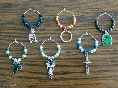 Lord of the Rings wine charms