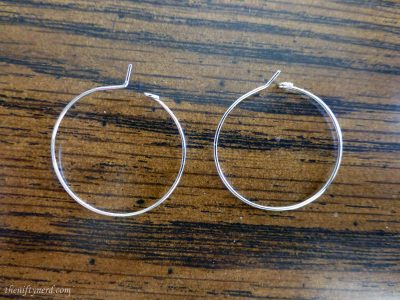 wire wine charm loop and earring hoop